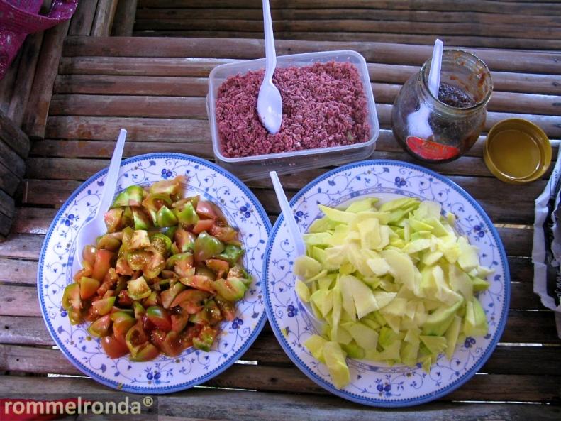 Fresh Tomato, Green Mango, and Bagoong (sauteed shrimp)
