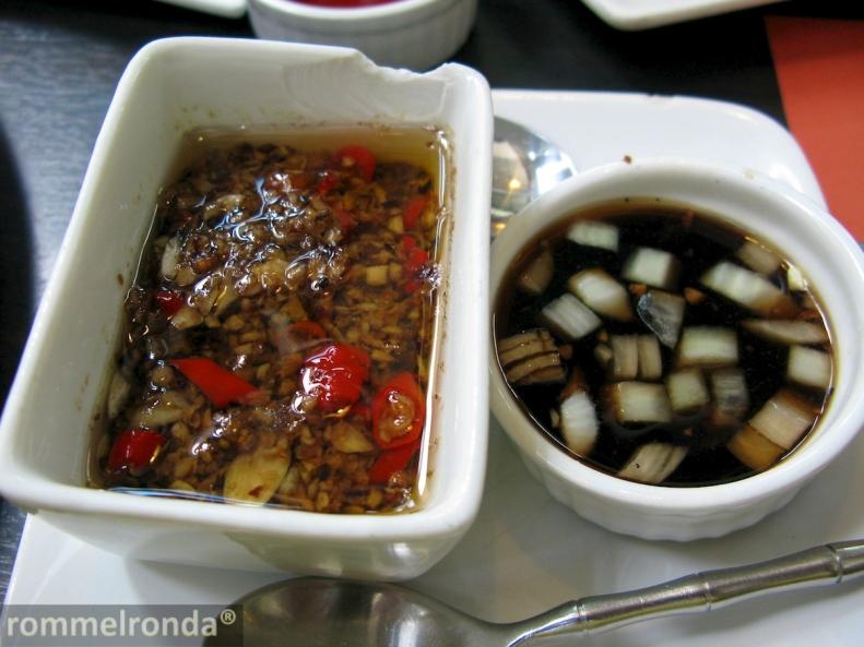 Chili Garlic Dip and Soy Dip